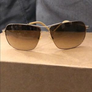 Oliver Peoples Gold Tone Sunglasses